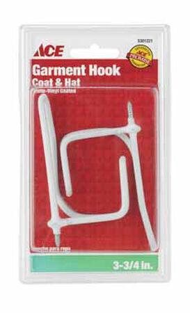 Ace Medium Coat and Hat Garment Hook 3-1/4 in. L Metal 35 lb. per Hook 2 pk