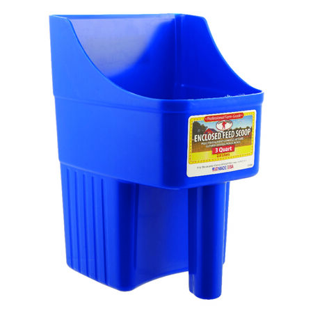 Little Giant 3 Blue Plastic Feed Scoop