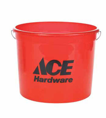 Ace Plastic Bucket 5 qt. Red