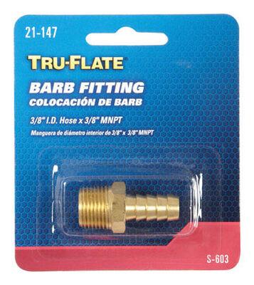 Tru-Flate Brass Barb Fitting 3/8 in. I.D. Hose x 3/8 in. MNPT Male