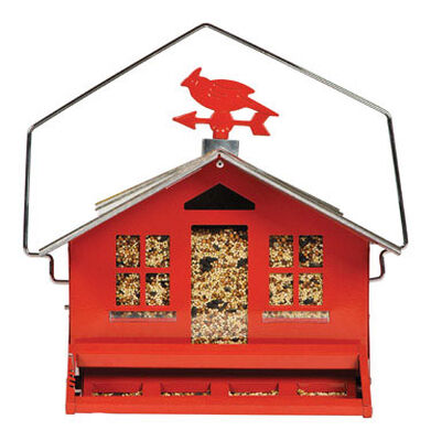 Perky-Pet Wild Bird 8 lb. Metal Hopper Country Style Seed Feeder