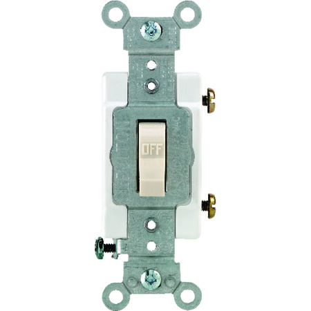Leviton Commercial 15 amps Toggle Switch Single Pole 1