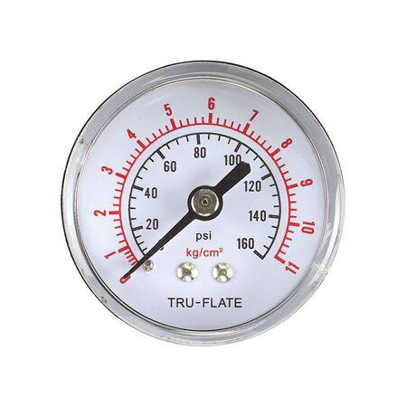 Tru-Flate Polycarbonate Air Line Gauge 1/4 in. NPT