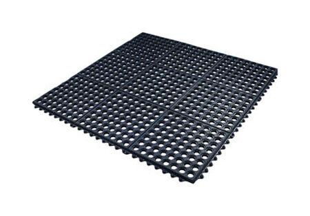 Flexgard Black Rubber Nonslip Anti Fatigue Mat 36 in. L x 36 in. W
