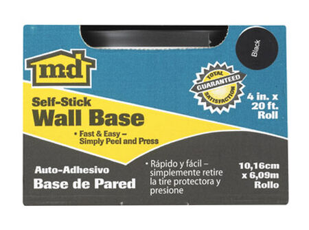 M-D Building Products Coved Wall Base Vinyl 4 in. H x 20 ft. W Black