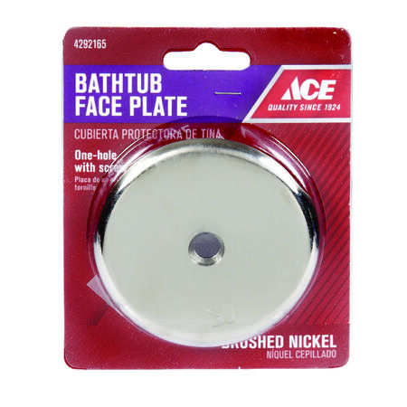 "Ace 3-3/16"" Dia. Nickel Face Plate"
