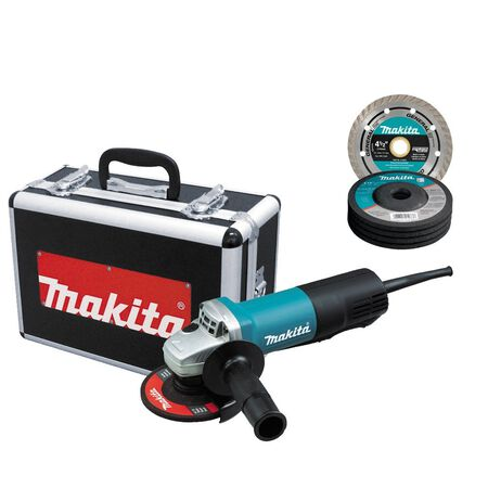 Makita 4-1/2 in. Dia. Small Angle Grinder 7.5 amps 10 000 rpm