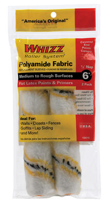 Whizz Polyamide Fabric Paint Roller Cover 1/2 in. L x 6 in. W 2 pk