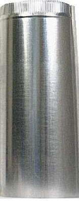 Imperial Manufacturing 8 in. Dia. x 24 in. L Galvanized Steel Furnace Pipe Metallic