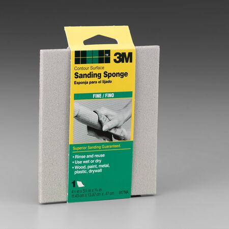 3M 5-1/2 in. L x 4-1/2 in. W x 3/16 in. 120 Grit Fine Contour Sanding Sponge