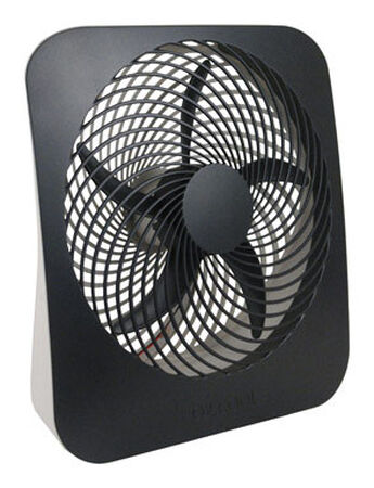 O2 Cool Personal Fan 12.8 in. H x 3.15 in. L x 11.89 in. W x 10 in. Dia. 2 speed AC 5 blade Gray