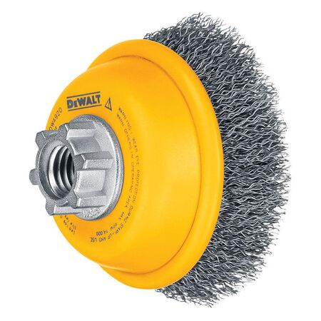 """3"""" x 5/8""""-11 HP .014 Carbon Crimp Wire Cup Brush"""