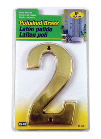 Hy-Ko Nail On Polished Brass Number 2 5 in.