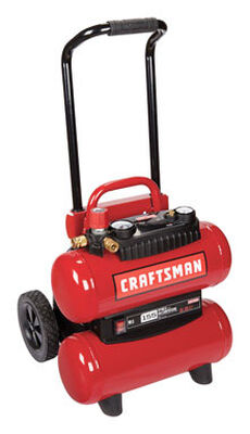 Craftsman Horizontal Twin Tank Air Compressor 155 psi 1.1 hp