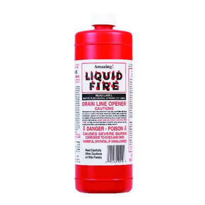 Amazing Liquid Fire Liquid Drain Opener 32 oz.