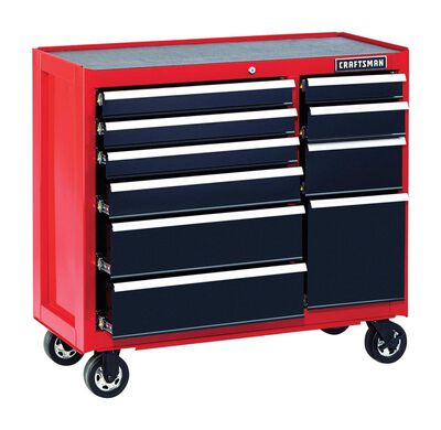 Craftsman 10 drawer Rolling Tool Cabinet 39-1/2 in. H x 41 in. W x 18 in. D