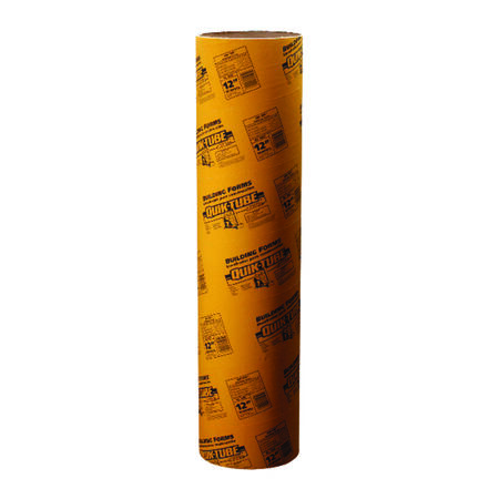 Quikrete Quik-Tube Cardboard Concrete Building Form Tube 12 in. Dia. x 4 ft. L