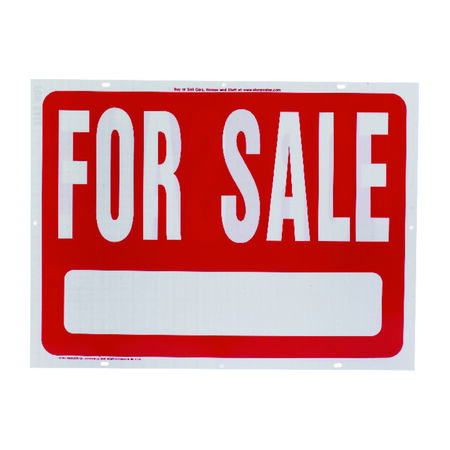 Hy-Ko English 18 in. H x 24 in. W Plastic Sign For Sale