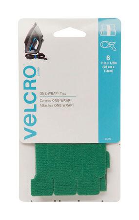Velcro 11 in. L x 1/2 in. W Strap 6 pk