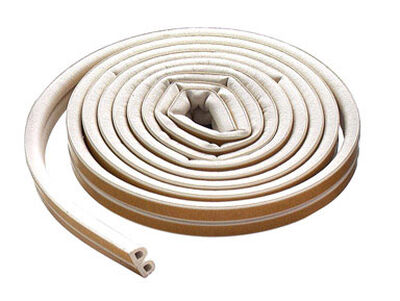 M-D Building Products Extreme Temperature Rubber Weather Stripping 5/16 in. x 17 ft. L White