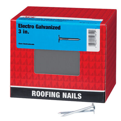 Ace Large 3 in. L Roofing Nail Smooth Electro-Galvanized Steel 5 lb.