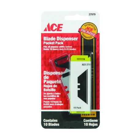 Ace Pocket Pack Utility Knife Pocket Pack Blade Dispenser 10 pk