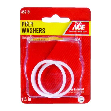 Ace 1-1/4 in. Dia. Poly Washer 2