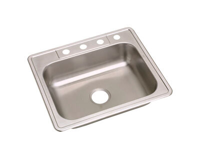 Kindred Satin Stainless Steel Top Mount 25 in. W x 22 in. L Sink Stainless Steel