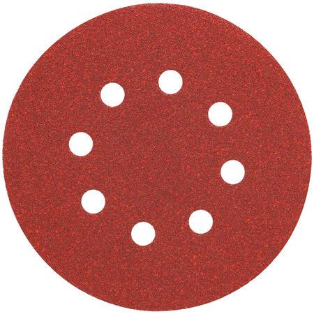 """5"""" 8 Hole 120 Grit Hook and Loop Random Orbit Sandpaper (25 pack)"""