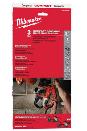 Milwaukee 35.4 in. L x 0.5 in. W Bi-metal Band Saw Blade 24 TPI