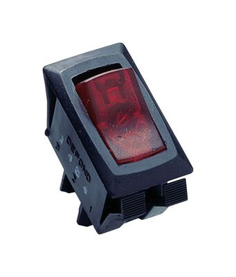 Gardner Bender 16 amps Black Lighted Rocker Switch Single Pole 1