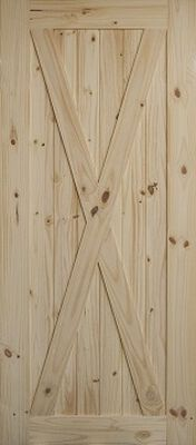 "Barn Door X-Pattern 36"" x 84"" x 1-3/8"" (Door Only)"