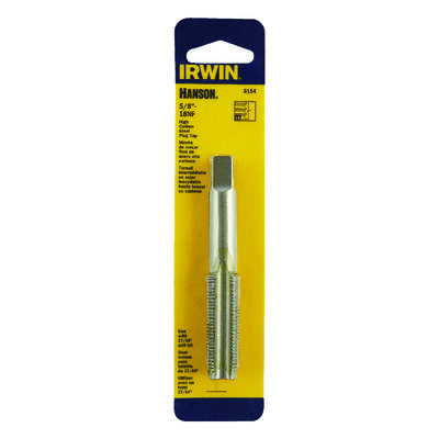 Irwin Hanson High Carbon Steel 5/8 in.-18NF SAE Fraction Tap 1 pc.