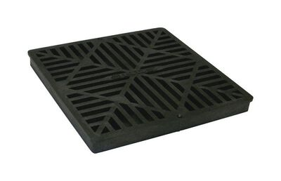 NDS 12 in. Black Polyolefin Square Heavy Duty Drain Grate
