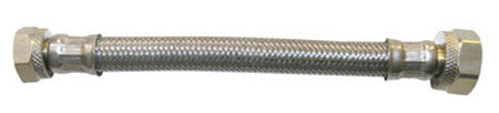 Ace 1/2 in. Compression x 1/2 in. Dia. FIP Stainless Steel Faucet Supply Line 24 in.