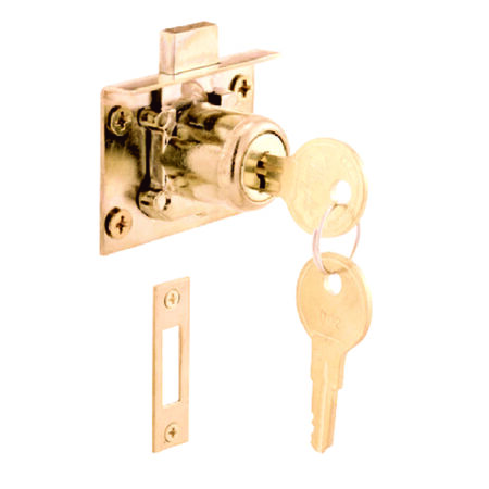 Prime-Line Brass Brass Drawer and Cabinet Lock