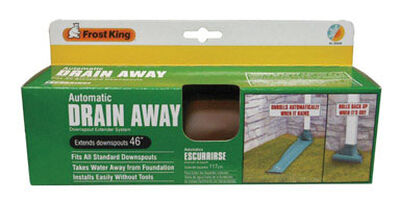 Frost King Drain Away 46 in. L x 8-1/2 in. W x 46 L Plastic Downspout Extension Brown