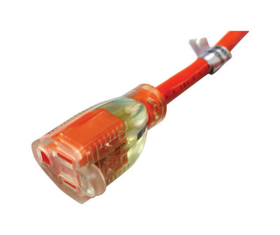 Ace Indoor and Outdoor Extension Cord 12/3 SJTW 100 ft. L Orange