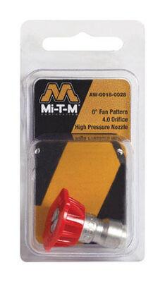 Mi-T-M Quick Connect 4 0 0 deg. Pressure Washer Nozzle