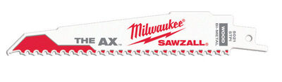 Milwaukee The AX 6 in. L 5 TPI Bi-Metal Sawzall Blade 5 pk