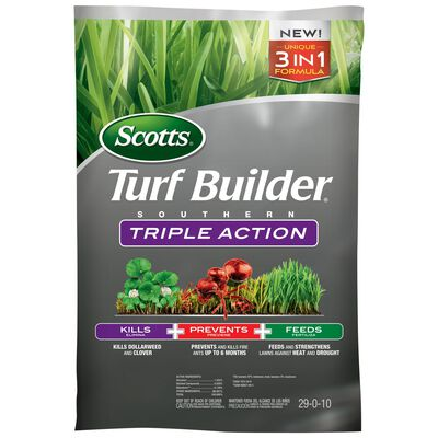 Scotts Turf Builder Triple Action Weed Control Plus Lawn Food Southern 8000 sq. ft. Granular 29