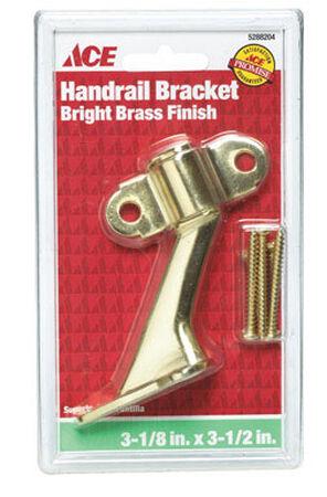 Ace Brass 3-1/2 in. Bright Brass Hand Rail Bracket