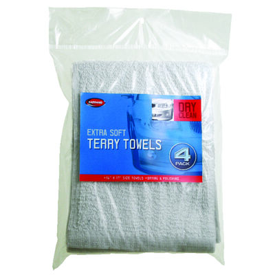 Carrand 17 in. L x 14 in. W Cotton Terry Towels 4