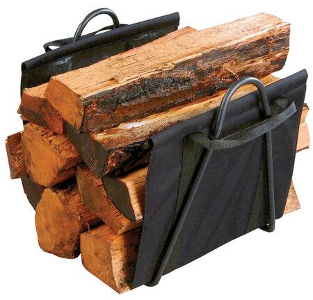 Panacea Matte Steel Log Rack Indoor and Outdoor