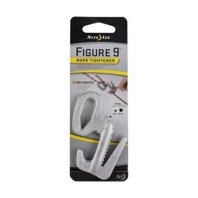 "Nite Ize Figure 9 Twisted Aluminum 1/8"" Rope Tightener Silver"
