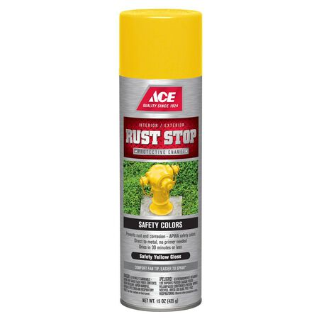 Ace Rust Stop Safety Yellow Gloss Spray Paint 15 oz.