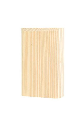 Alexandria Moulding Casing Trim Block Pine 6 in. H x 3-1/2 in. W x 1 in. D