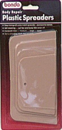 Bondo Plastic Spreaders 3 pk For Spreads Body Filler and Poly Resins