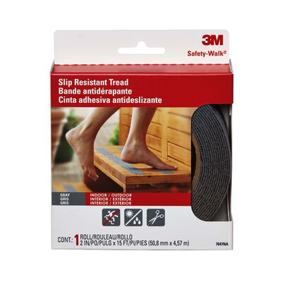 3M Safety Home and Recreation Tread 2 in. W x 5 yd. Gray