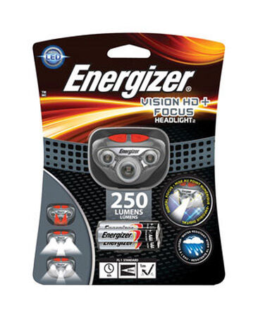 Energizer Vision HD + Focus 300 lumens Headlight LED Gray
